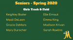 Girls Track & Field – Senior Day Spring 2020