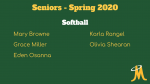 Softball – Senior Day Spring 2020