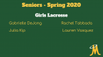 Girls Lacrosse – Senior Day Spring 2020