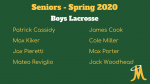 Boys Lacrosse – Senior Day Spring 2020