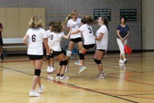 Volleyball team scores