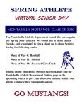 "Spring Sports Virtual ""Senior Day"""