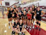 Girls 8th Grade Volleyball beats Winamac (A and 1 game of B) 2 – 0