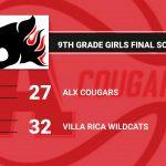 9th Grade Girls Fall Short