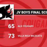 Boys Junior Varsity Basketball falls to Villa Rica 73 – 65