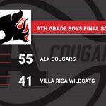 Boys Freshman Basketball beats Villa Rica 55 – 41