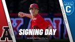 Class of 20 @Baseball_ALX player @zekegilbert18 signing day