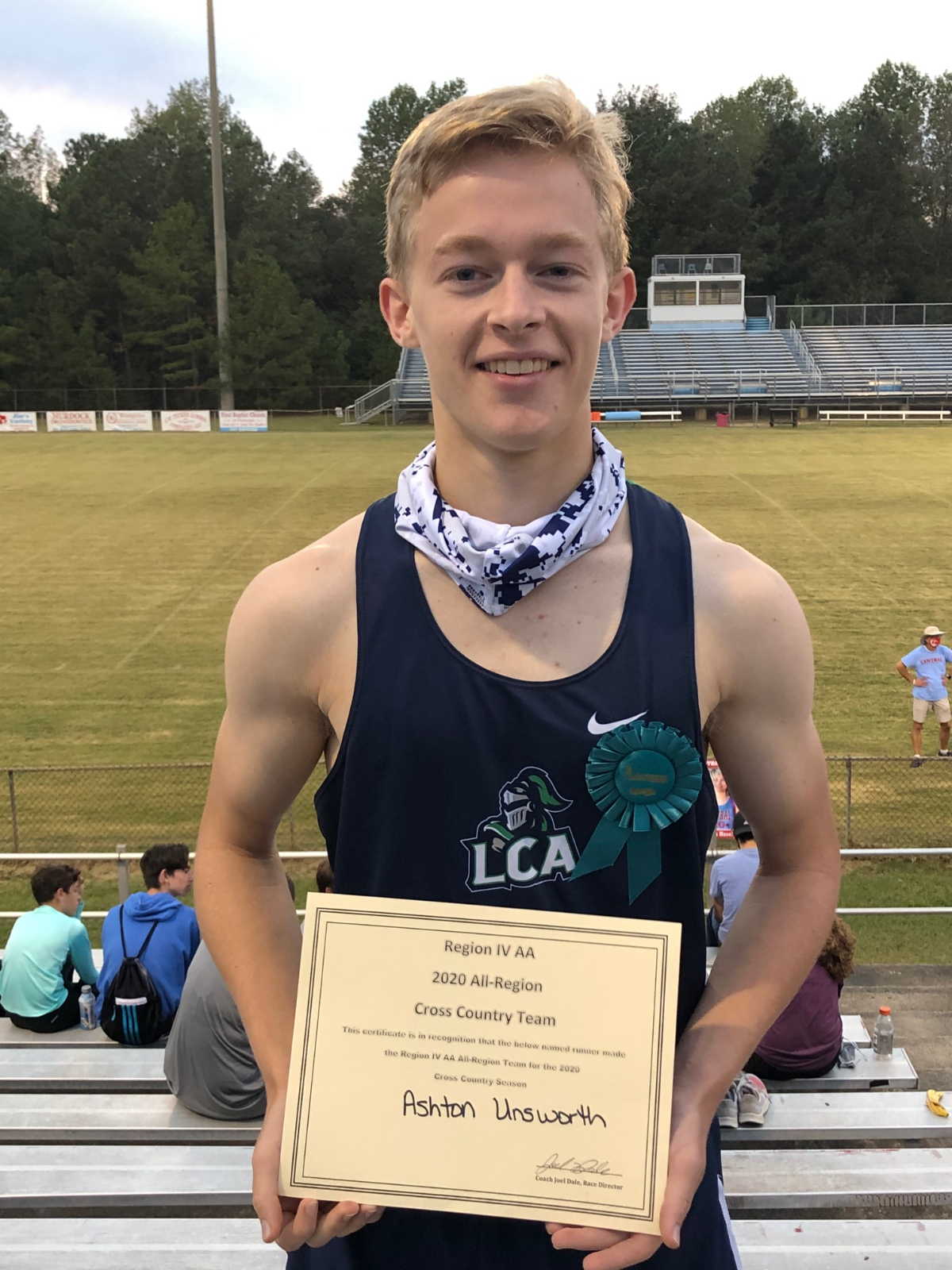 Ashton Unsworth named all region in Cross Country