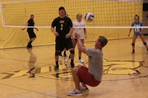 Zeeland East Varsity Volleyball vs Dads of ZEVB