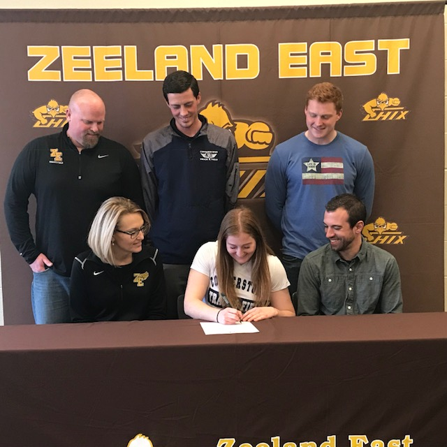 Sarah Brown Signs with Cornerstone University!