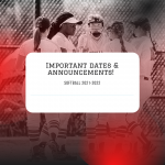 Important Softball Dates & Info