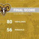 Boys Basketball WPIAL Quarterfinal vs. Ringgold 02-22-2020
