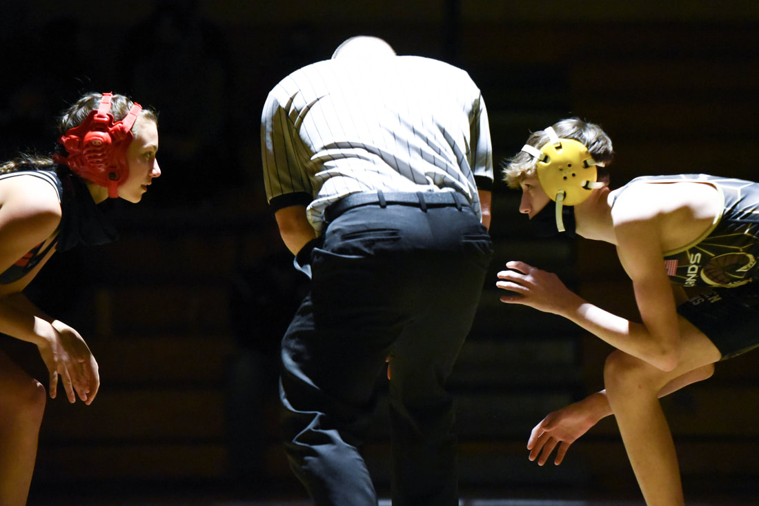 Varsity Wrestling Senior Night vs. Moon (Photo Courtesy of Kathy Kemp)