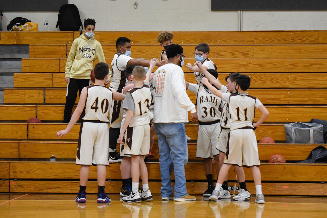 7th Grade Boys Basketball vs. North Hills (Photo Courtesy of Kathy Kemp)