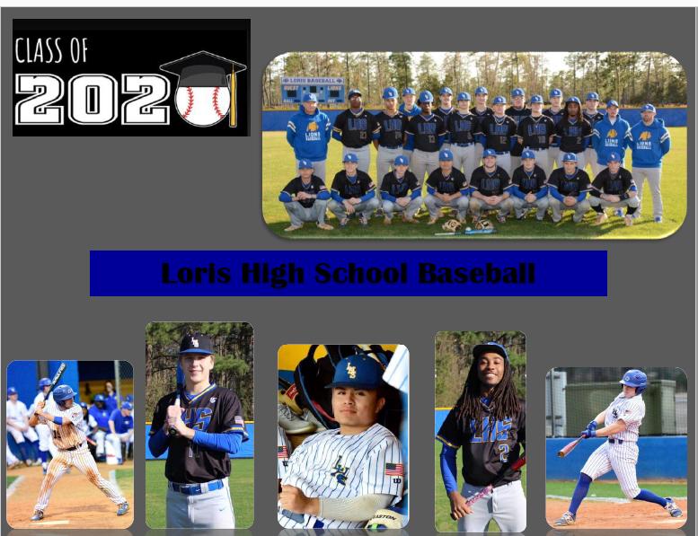 Class of 2020- Loris Baseball