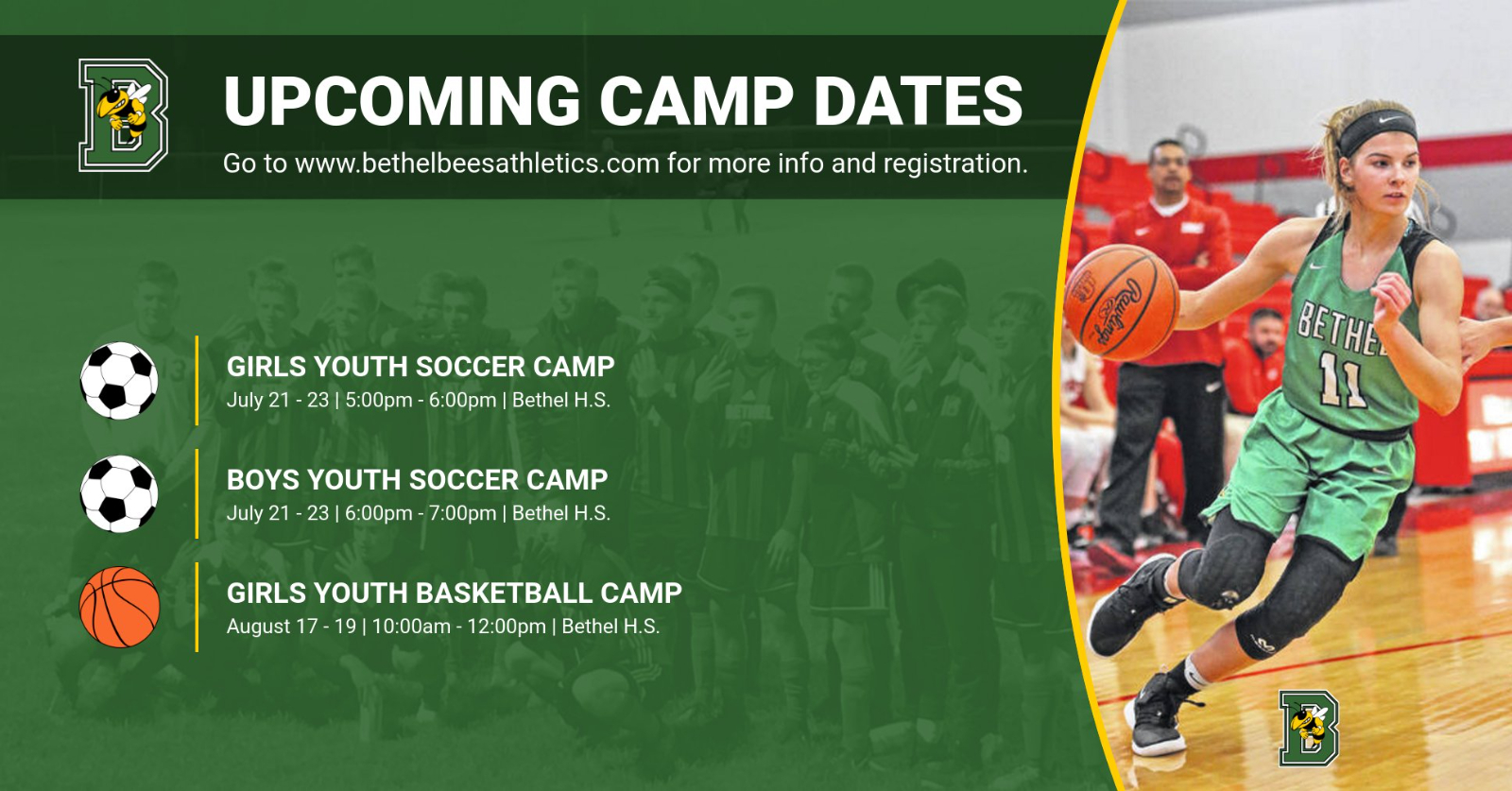 UPDATE – Upcoming Camp Dates / Addition!