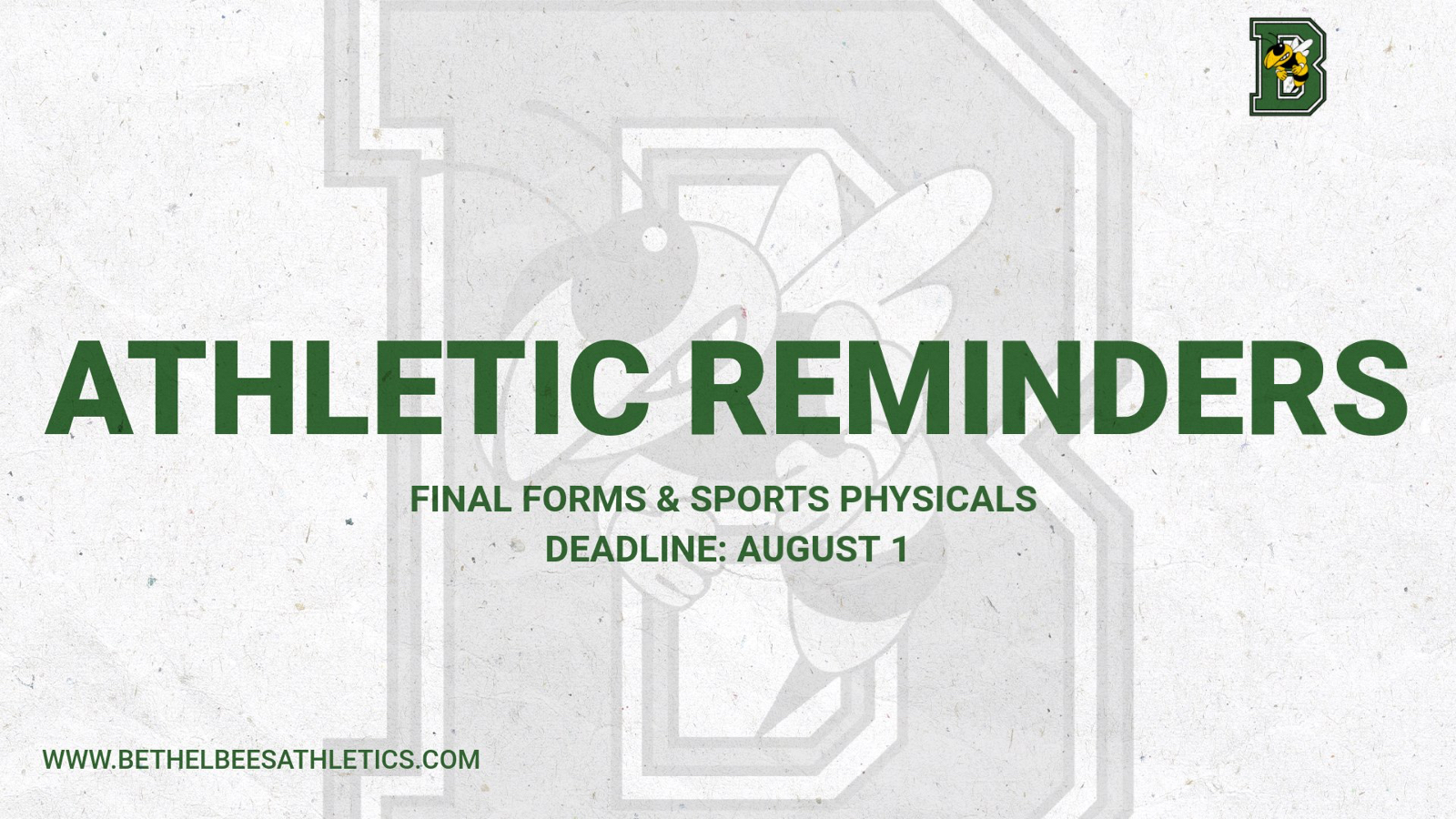 Fall Sports Reminder