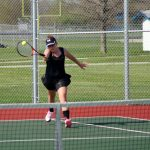 Girls Tennis team wins conference match againt Frankfort