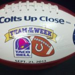 Congratulations Coach Wright and entire LHS Football Program: Named Colts Taco Bell team of the week
