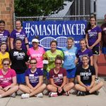 Lady Tigers Tennis Defeat Western Boone on Smash for Cancer Night!