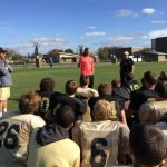 Lebanon Tigers Welcome Colts Player Coby Fleener to Football Practice