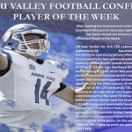 CONGRATS FORMER LHS STUDENT ATHLETE  ISAAC HARKER: SYCAMORE QB NAMED MISSOURI VALLEY FOOTBALL PLAYER OF THE WEEK