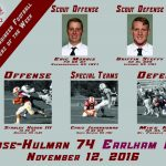 Congratulations LHS football Grad Griffin Steffy: Rose-Hulman Scout Defense Player of the Week