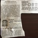 Congratulations Jaylen Washington INDY Star Athlete of the week.