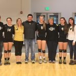 Lady Tigers Varsity Volleyball defeats North Montgomery 3-2 on Senior Night!