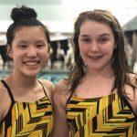 Girls Varsity Swimming beats Cathedral 96 – 89
