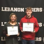 Congrats Gabby Brewer and Camren Toole Lebanon Sports Booster November Athletes of the Month