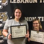 Congrats Lebanon Sports Booster Association December Athletes of the Month Paige Jones and Erynn Smith