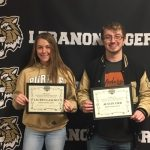 Congratulations to Lebanon Sports Booster  Winter Sports Athletes of the month of February: Austin Orr and Lauren Gascho