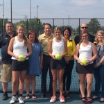 LHS Lady Tennis Team celebrates Senior Night with Victory over Lafayette Jeff 3-2.