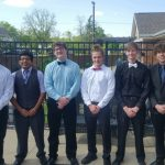 Football Players Assist with Homewood Health Campus Prom