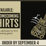 Purchase your 2019 Homecoming Shirt and Get in the Football Game for Free