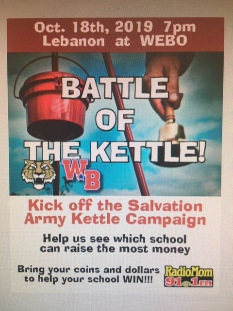 Salvation Army Kicks off Kettle Campaign at Friday Night's LHS vs. WEBO Football game