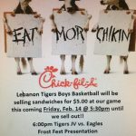 Boys Basketball to sell Chick-Fil-A Sandwiches Friday Night!