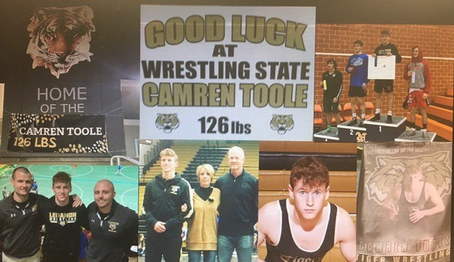 Good Luck LHS 126 lb. Wrestler Camren Toole at State Today!