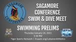 Thursday 1/14 Sagamore Conference Swim Prelims Stream Information