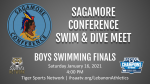 Saturday 1/16 Sagamore Conference Boys Swim Finals Stream Information