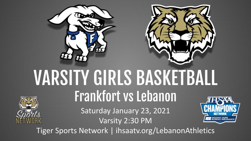 Saturday 1/23 Streaming Information Girls Basketball