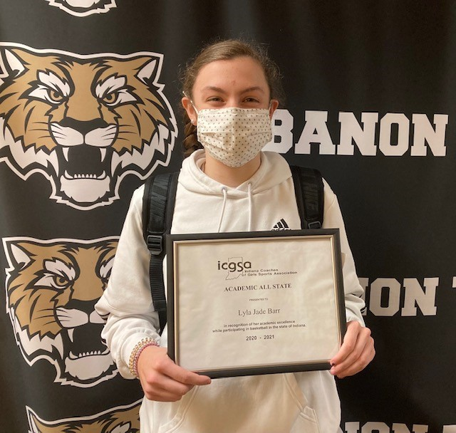 Congrats LHS Lady Tiger Basketball Senior Lyla Barr: Named Academic All-State