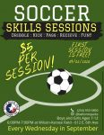Wednesday Night Youth Soccer Skill Sessions