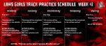 Weekly Girls Track Practice Update