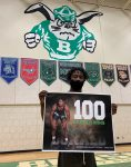 Wrestling Senior Night! Congratulations to Quentin Donald on his 100th win!