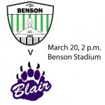 3/20 Boys Varsity Soccer v Blair, 2 p.m.