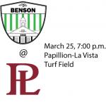 3/25 Boys Varsity Soccer @ Papio, 7 p.m.