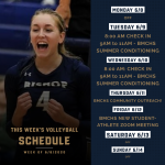 Week Of June 8: BMCHS VOLLEYBALL SCHEUDLE