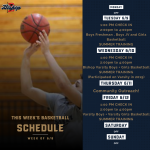 Week Of June 8: BMCHS BASKETBALL SCHEDULE